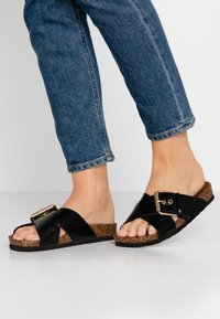 ONLY SHOES - ONLMATHILDA SLIP ON - Slippers - black - 0
