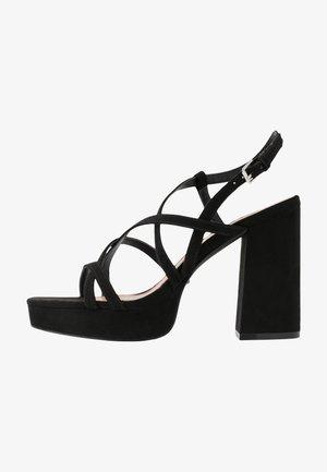 ONLAERIN HEELED CROSSOVER  - Sandalen met hoge hak - black