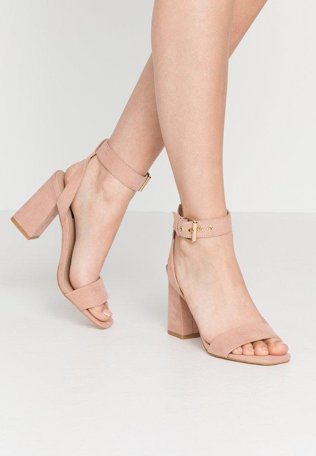 ONLALYX  - Sandály na vysokém podpatku - nude