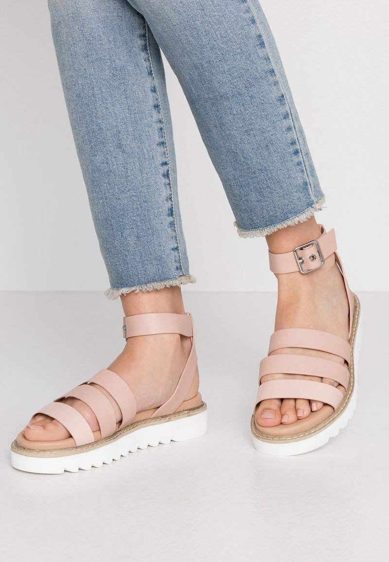 ONLY SHOES - ONLMALU CHUNKY WRAP - Platform sandals - nude