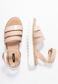 ONLY SHOES - ONLMALU CHUNKY WRAP - Platform sandals - nude - 3