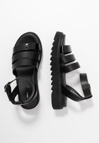 ONLY SHOES - ONLMALU CHUNKY WRAP - Platform sandals - black - 3