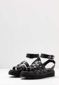 ONLY SHOES - ONLMALU CHUNKY WRAP - Platform sandals - black - 4