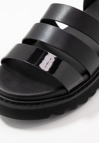 ONLY SHOES - ONLMALU CHUNKY WRAP - Platform sandals - black - 2