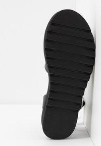 ONLY SHOES - ONLMALU CHUNKY WRAP - Platform sandals - black - 6