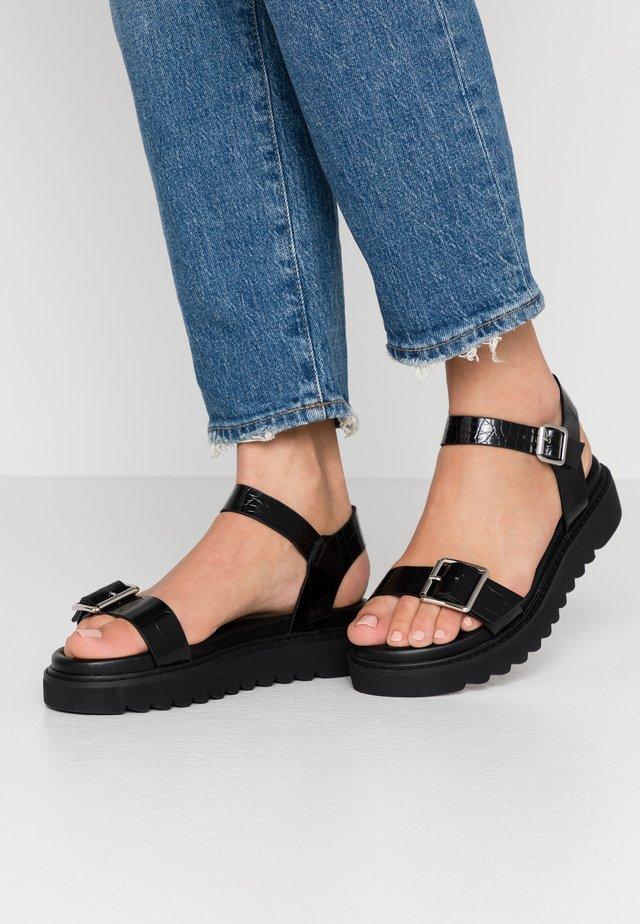 ONLMALU CHUNKY  - Korkeakorkoiset sandaalit - black