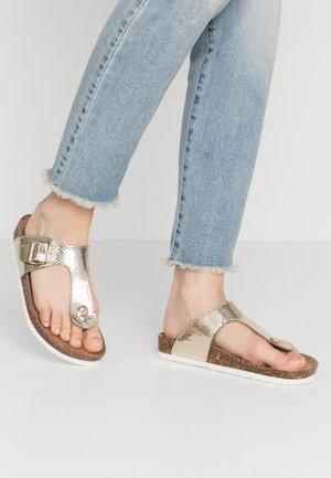 ONLMATHILDA SPLIT TOE  - Flip Flops - gold