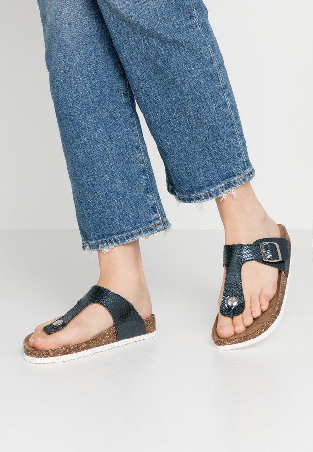 ONLMATHILDA SPLIT TOE  - T-bar sandals - metallic blue