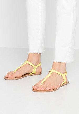ONLMARGIT TWIST - T-bar sandals - neon yellow