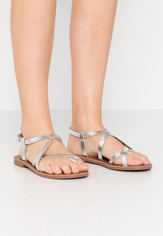 ONLMANDALA CROSSOVER  - T-bar sandals - silver