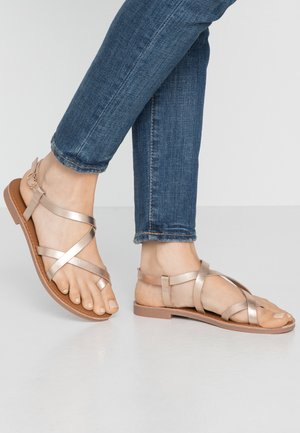 ONLMANDALA CROSSOVER  - T-bar sandals - rose gold
