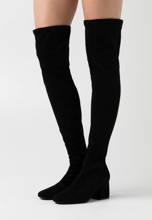 ONLBILLI LIFE LONG SHAFT HEELED BOOT  - Over-the-knee boots - black