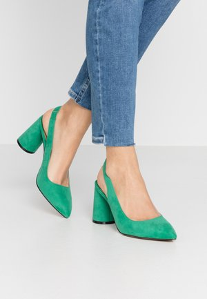 ONLPIXIE HEELED SLINGBACK  - Escarpins à talons hauts - dark green