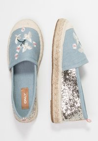 ONLY SHOES - ONLEVA EMBROIDERY GLITTER - Alpargatas - blue - 3