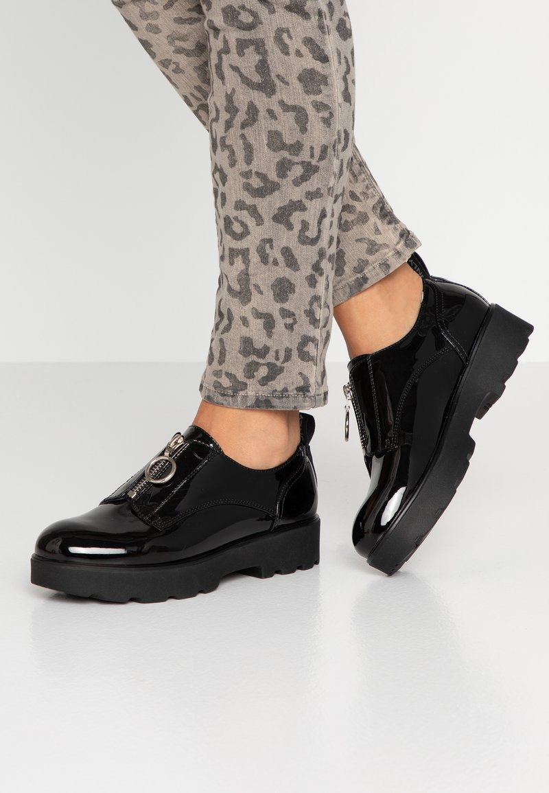 ONLY SHOES - ONLBINNY ZIP UP  - Lace-ups - black