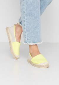 ONLY SHOES - ONLEVA - Espadrilles - neon yellow - 0