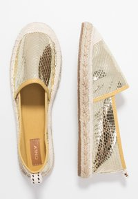 ONLY SHOES - ONLEVA  - Espadrilles - gold - 1