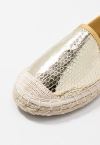 ONLY SHOES - ONLEVA  - Espadrilles - gold - 5