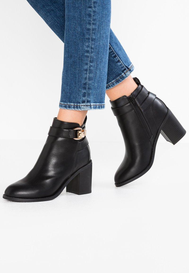 ONLY SHOES - ONLBINO HEELED BOOTIE - Ankelstøvler - black