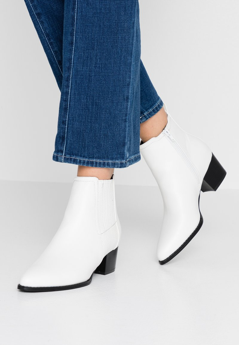 ONLY SHOES - ONLTOBIO - Ankle boots - white