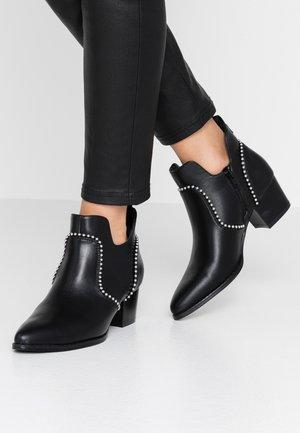 ONLTOBIO CURVE STUD  - Ankle boots - black