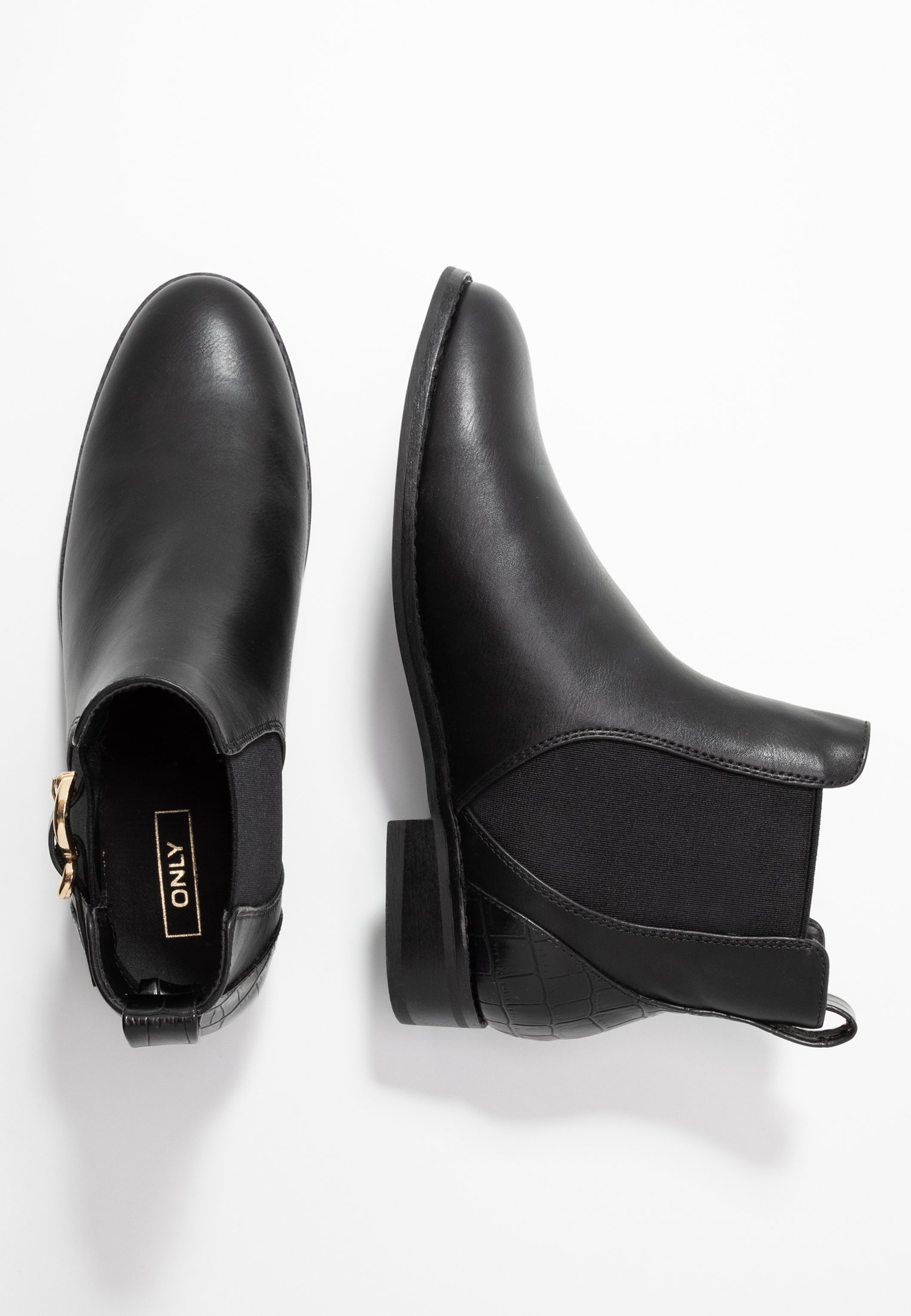ONLY SHOES ONLBOBBY ELASTIC BUCKLE - Boots à talons - black
