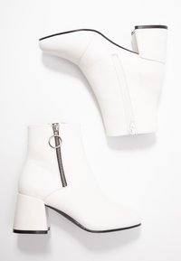 ONLY SHOES - ONLBIMBA HEELED ZIP BOOTIE - Classic ankle boots - white - 3