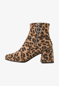ONLY SHOES - ONLBIMBA HEELED ZIP BOOTIE - Classic ankle boots - beige - 1