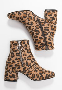ONLY SHOES - ONLBIMBA HEELED ZIP BOOTIE - Classic ankle boots - beige - 3