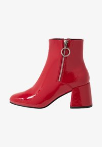 ONLY SHOES - ONLBIMBA HEELED ZIP BOOTIE - Classic ankle boots - red - 1