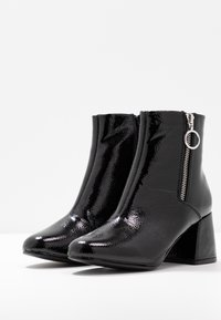 ONLY SHOES - ONLBIMBA HEELED ZIP BOOTIE - Classic ankle boots - black - 4