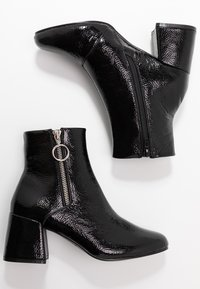 ONLY SHOES - ONLBIMBA HEELED ZIP BOOTIE - Classic ankle boots - black - 3