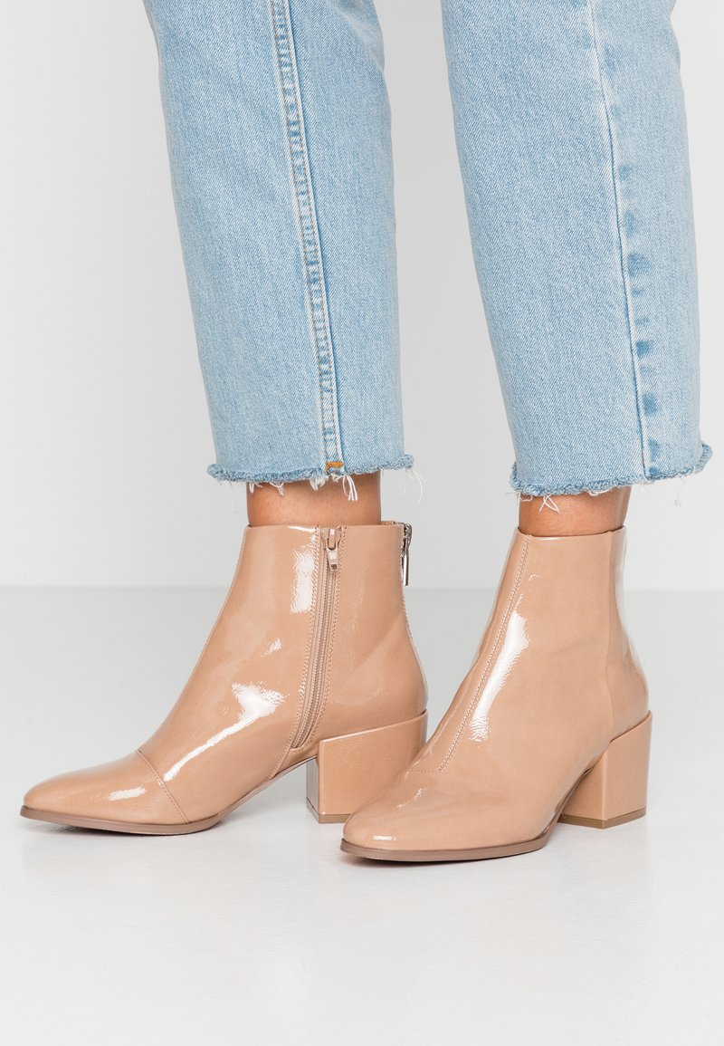 ONLY SHOES - ONLBELEN ZIP - Tronchetti - nude