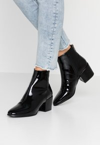 ONLY SHOES - ONLBELEN ZIP - Ankle boots - black - 0