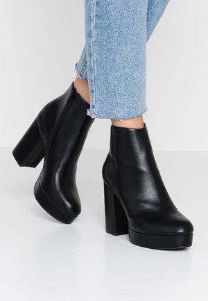 ONLBRIN - Kotníková obuv na vysokém podpatku - black