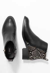 ONLY SHOES - ONLBRIGHT - Botines bajos - black/white - 3