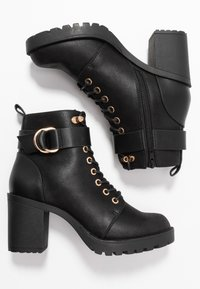 ONLY SHOES - ONLBARBARA BUCKLE LACEUP - Ankle boots - black - 3