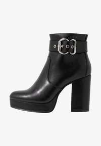 ONLY SHOES - ONLBRIN BUCKLE - High heeled ankle boots - black - 1
