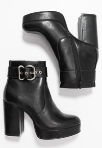 ONLY SHOES - ONLBRIN BUCKLE - High heeled ankle boots - black - 3