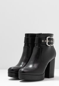 ONLY SHOES - ONLBRIN BUCKLE - High heeled ankle boots - black - 4