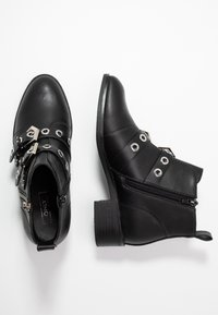 ONLY SHOES - ONLBRIGHT ZIP BUCKLE - Boots à talons - black - 3