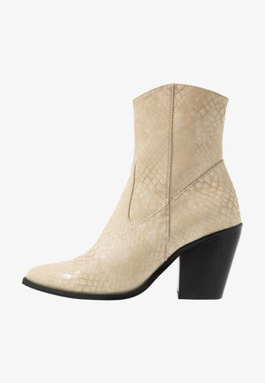 ONLBLAKE STRUCTURED HEELED BOOT - Bottines à talons hauts - offwhite