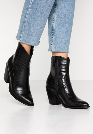 ONLBLAKE STRUCTURED HEELED BOOT - High heeled ankle boots - black