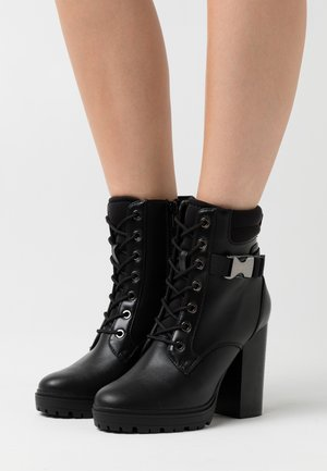 ONLTAYA BUCKLE BOOT - High heeled ankle boots - black