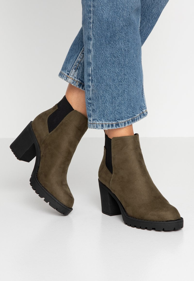 ONLY SHOES - Ankle boots - khaki