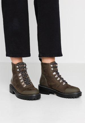 ONLBOLD LACE UP - Lace-up ankle boots - khaki