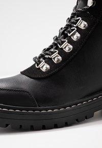 ONLY SHOES - ONLBOLD LACE UP - Šněrovací kotníkové boty - black - 2