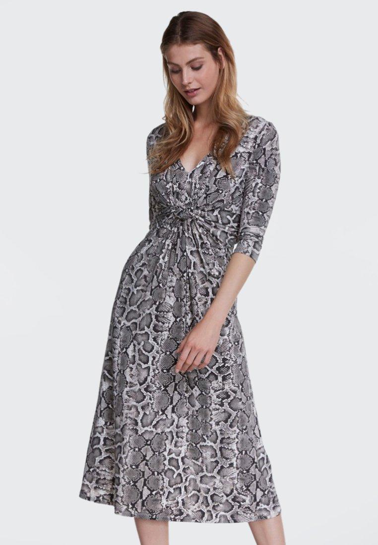 Oui - Day dress - black/white