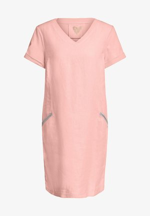 LEINENMISCHUNG - Jersey dress - light apricot