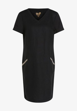 LEINENMISCHUNG - Jersey dress - black